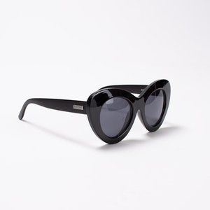 Go Go Go Black Le Specs Sunnies Oversized Cat Eye